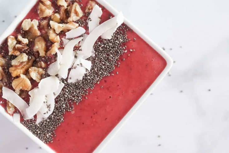 Cranberry Smoothie Bowl Recipe