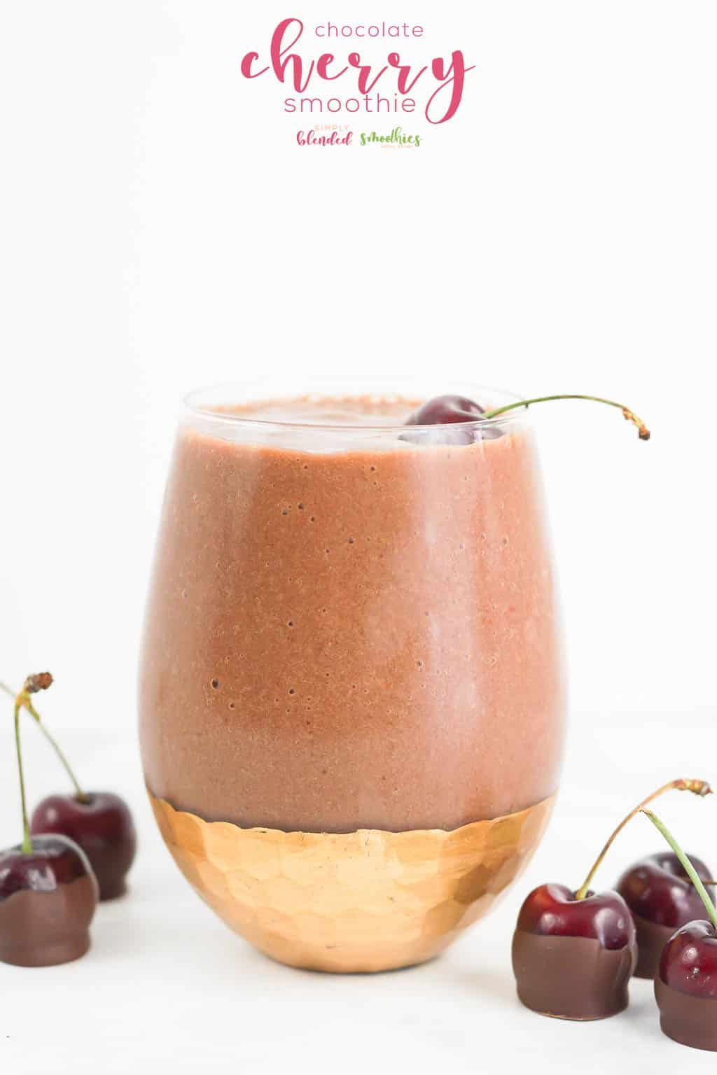 Chocolate Cherry Smoothie - an easy and healthy smoothie recipe