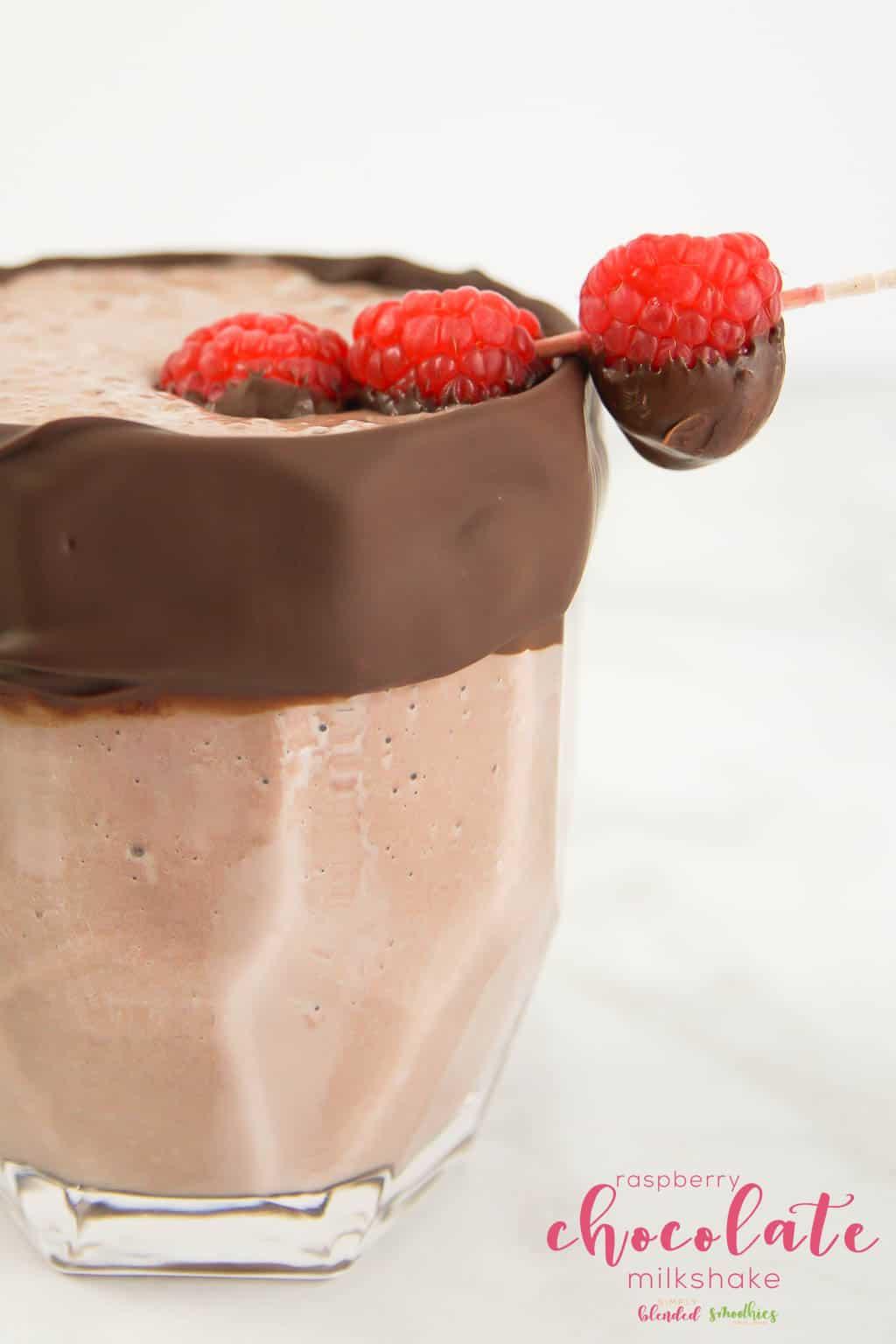 Raspberry Chocolate Milkshake