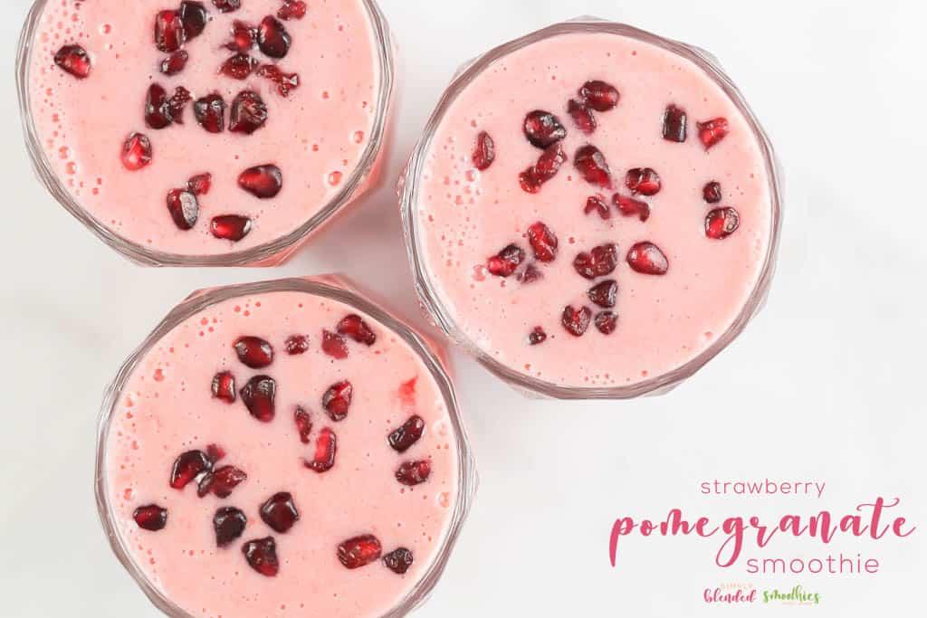Strawberry Pomegranate Smoothie Recipe