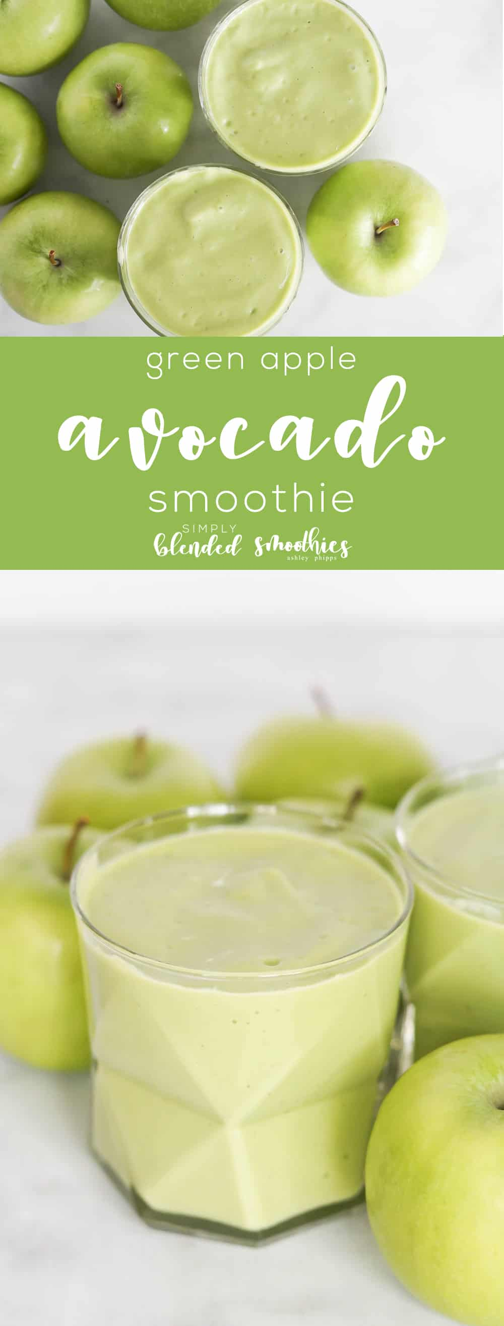 Green Apple and Avocado Smoothie - avocado makes this smoothie so rich and smooth and green apples makes this tart and refreshing