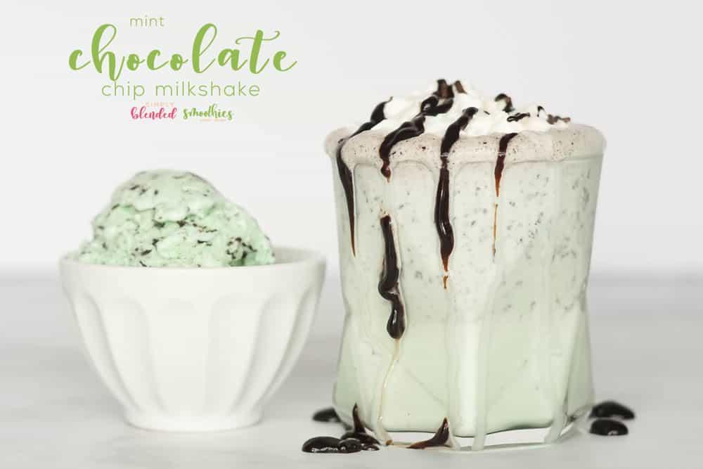 This mint chocolate chip milkshake is better than any shamrock shake