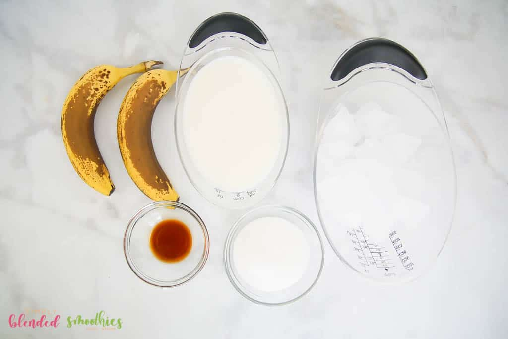 Banana Smoothie Ingredients