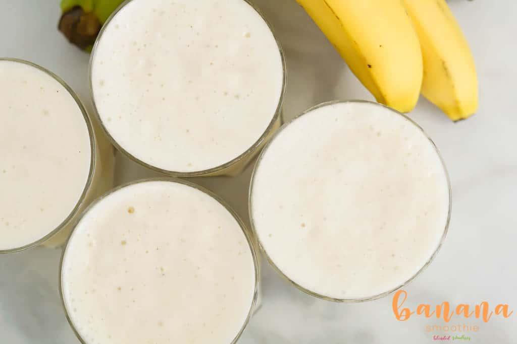 Delicious Smoothie recipe made with Bananas