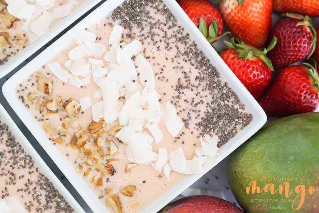 Mango Strawberry Smoothie Bowl