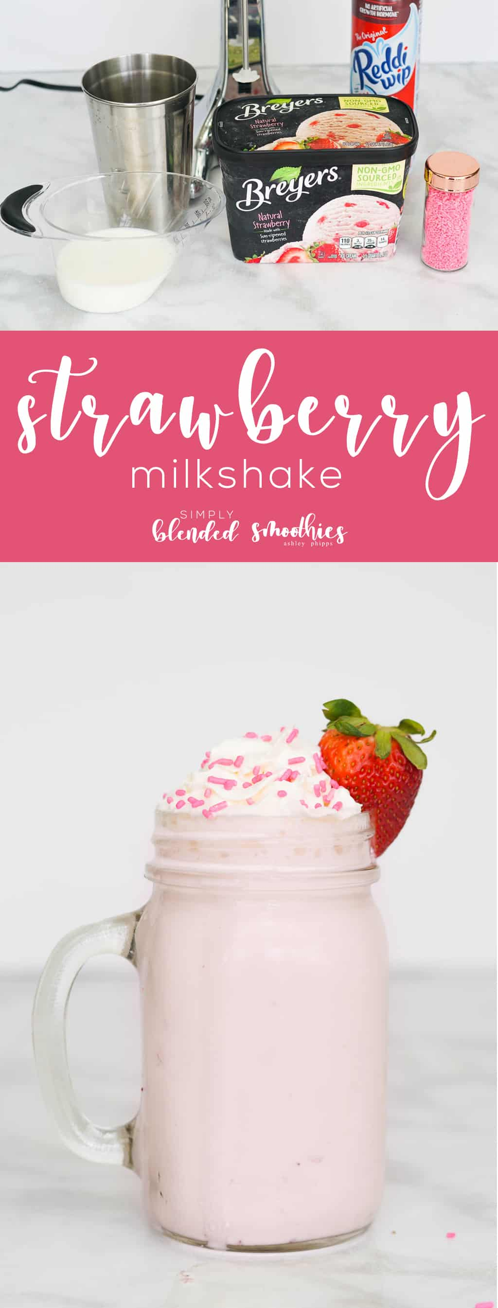The Best Strawberry Milkshake