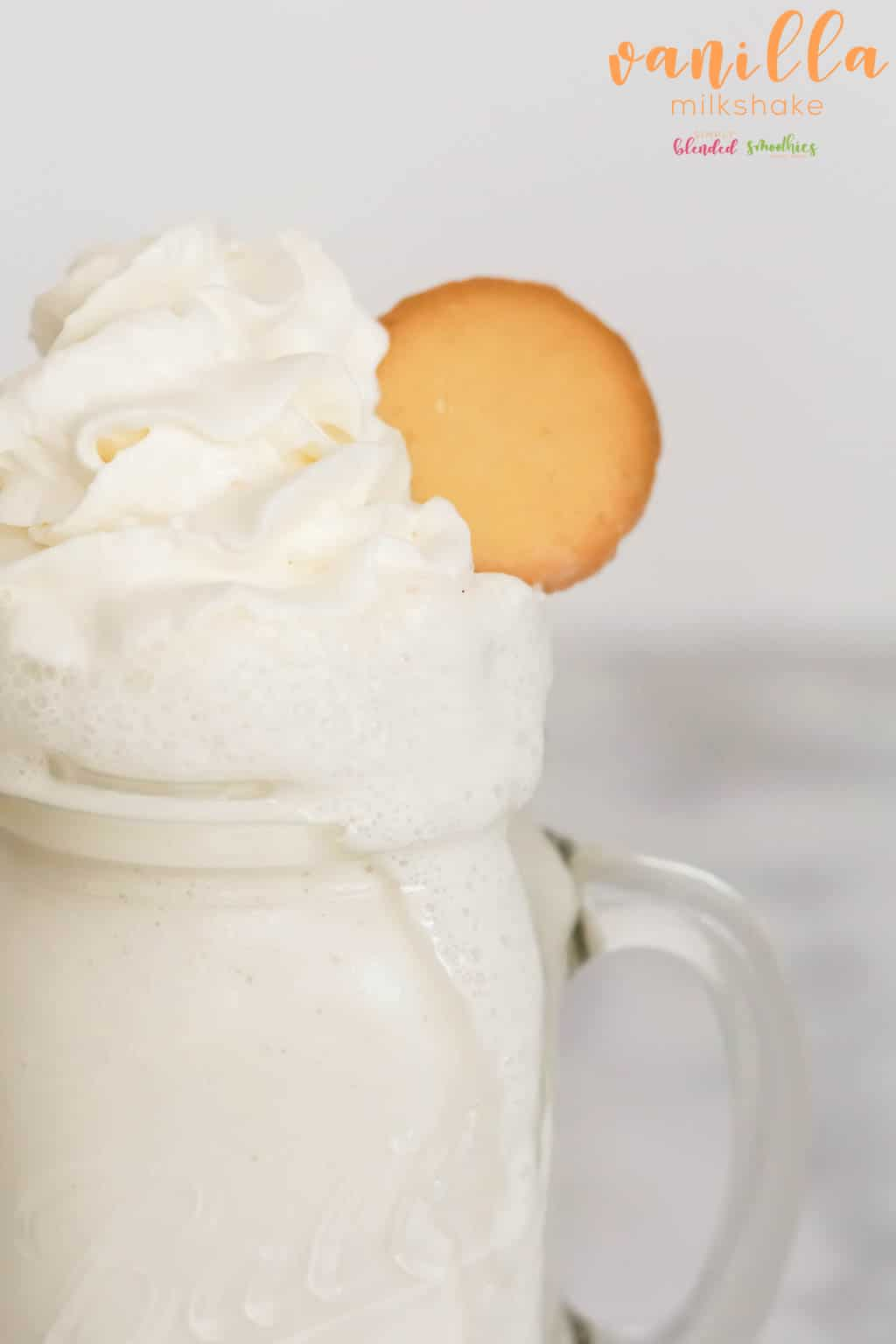 3 ingredient Vanilla Milkshake