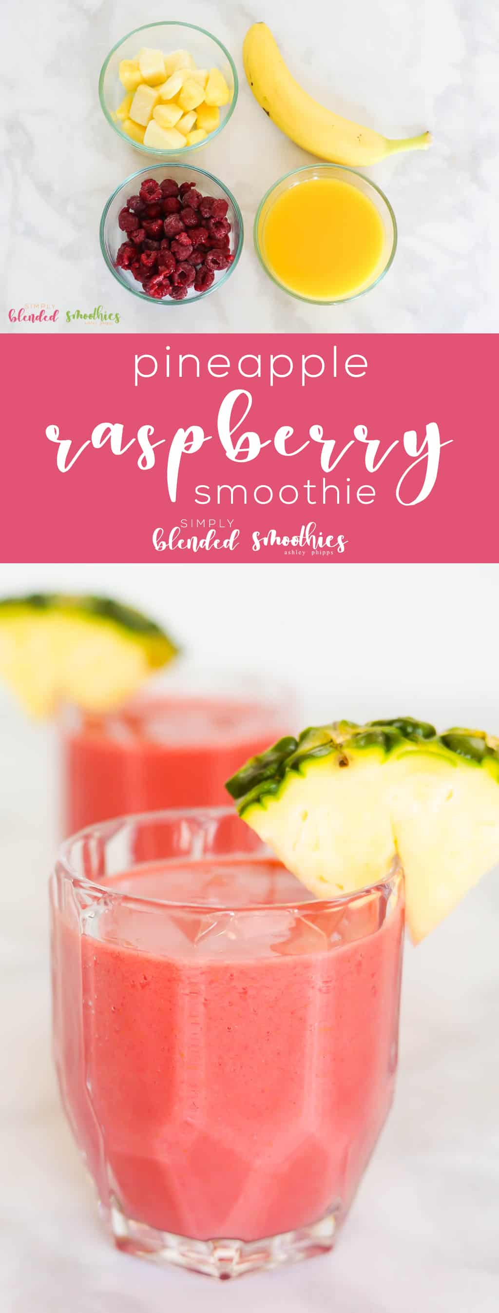 Pineapple Raspberry Smoothie - this smoothie is full of flavor is healthy and is a great way to start your day