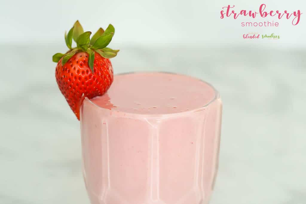 Strawberry Smoothie with 4 ingredients