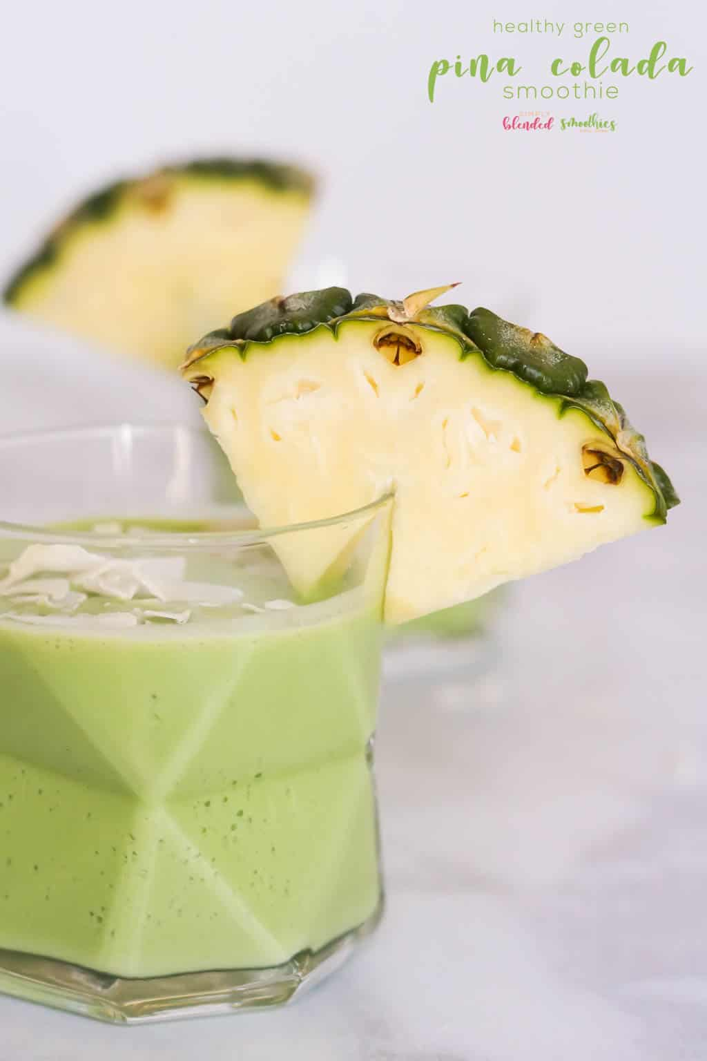 This Green Pina Collada recipe is a healthy alternative to a pina colada and is full of healthy spinach pineapple and other delicious ingredients