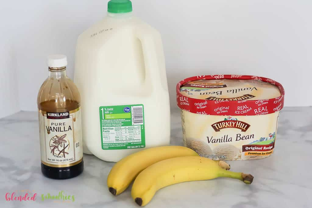 Banana Milkshake ingredients