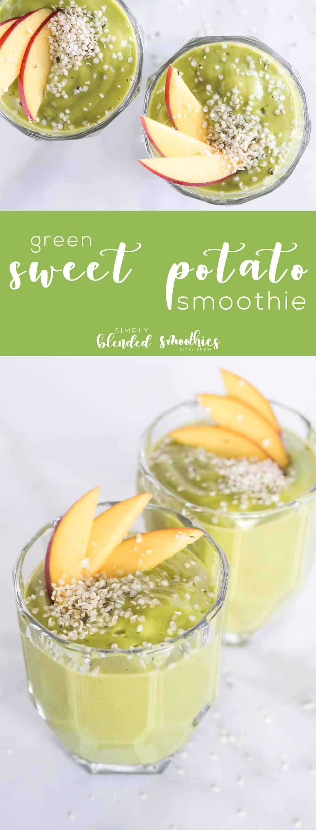 Green Sweet Potato Smoothie - this healthy and delicious green smoothie is the perfect blend of delicious fall flavors