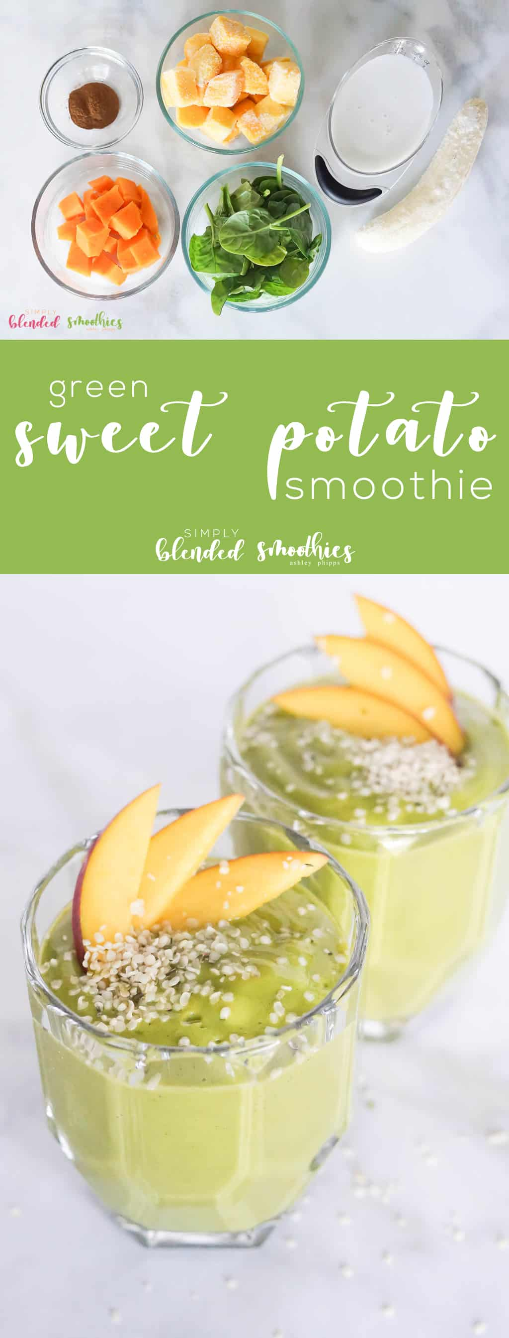 Green Sweet Potato Smoothie - this healthy and delicious green smoothie tastes just like fall