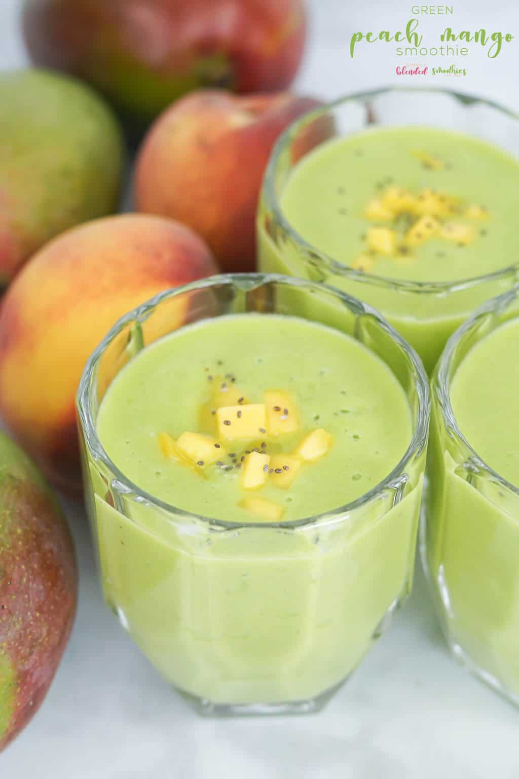 Easy and Delicious Green Peach Mango Smoothie Recipe