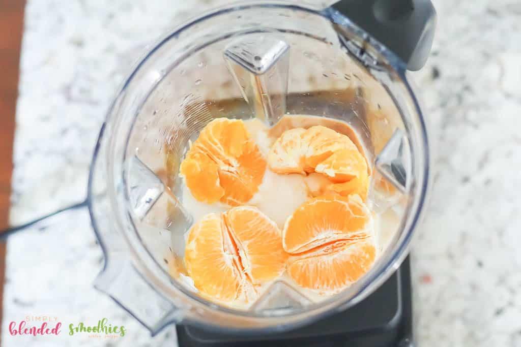 Make an orange smoothie