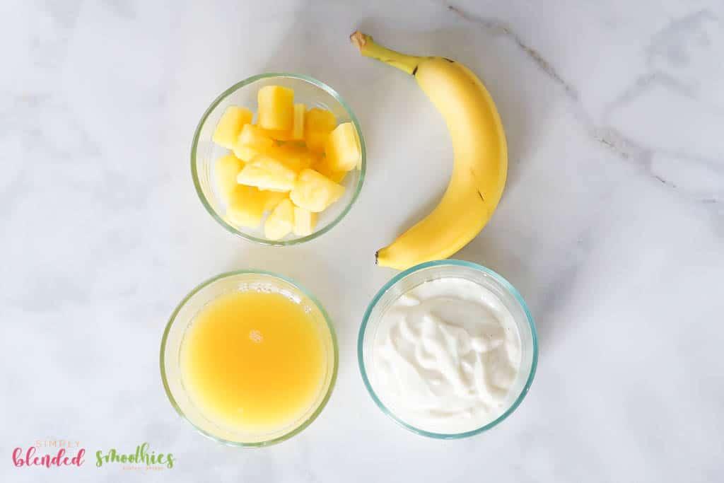 Pineapple Smoothie Ingredients