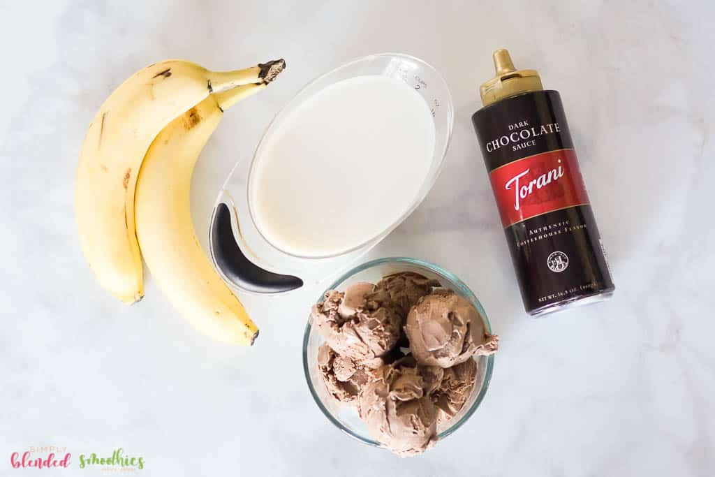 Chocolate Banana Milkshake Ingredients