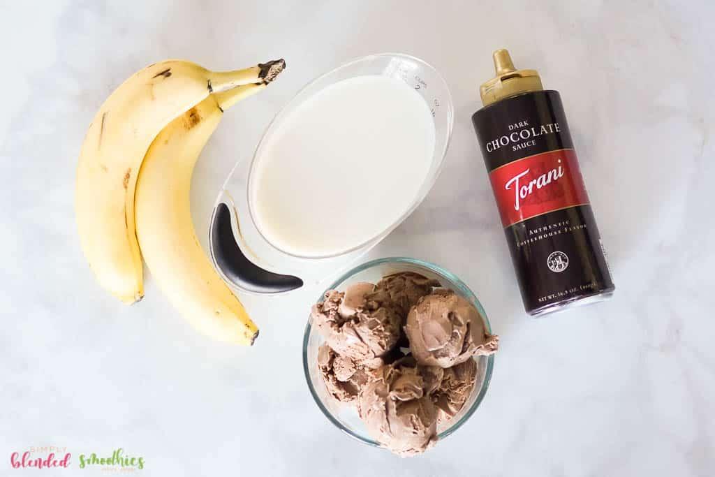 Chocolate Banana Milkshake Ingredients