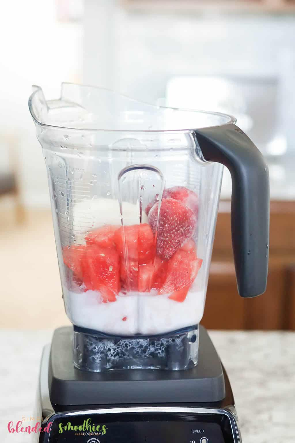 blend easy watermelon smoothie recipe ingredients
