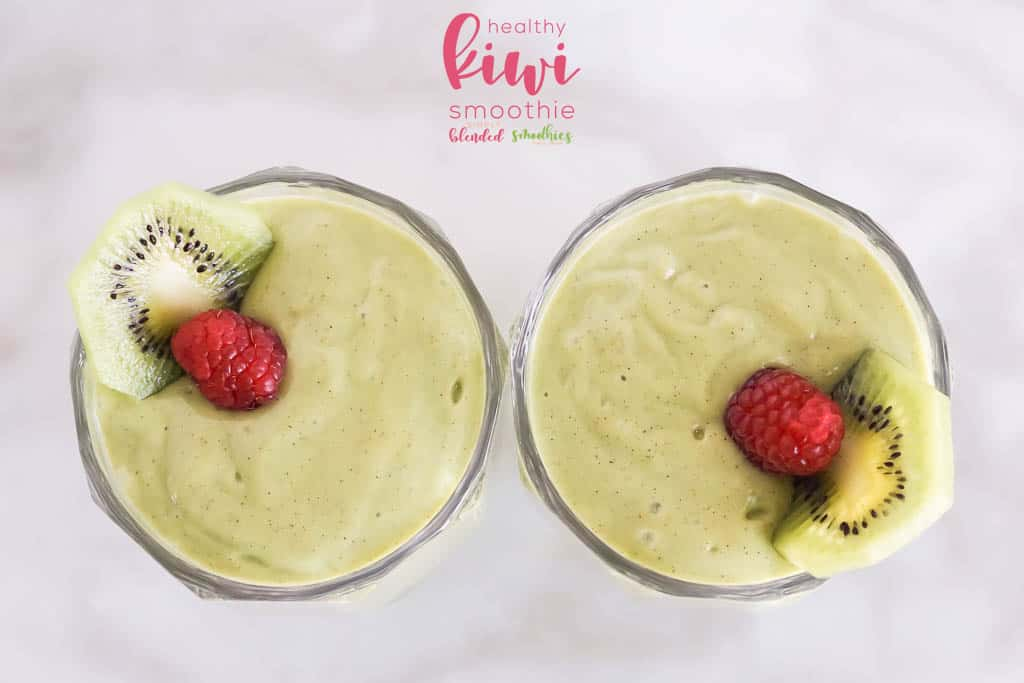 delicious kiwi smoothie
