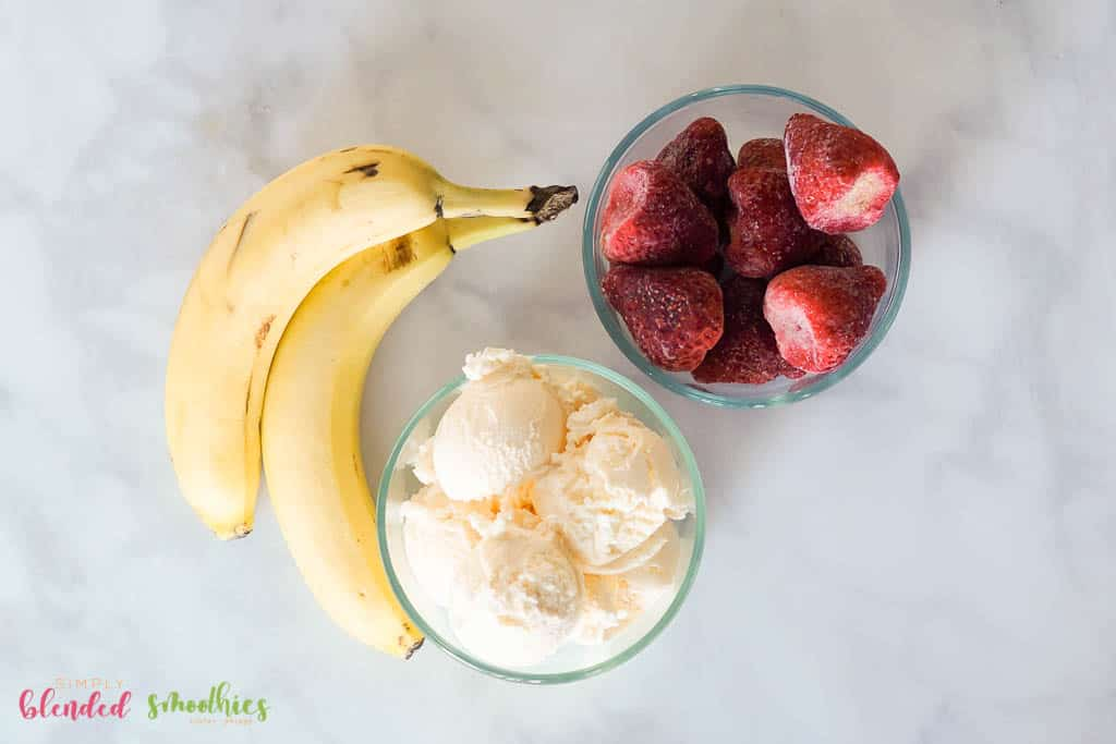 Strawberry Banana Shake Ingredients