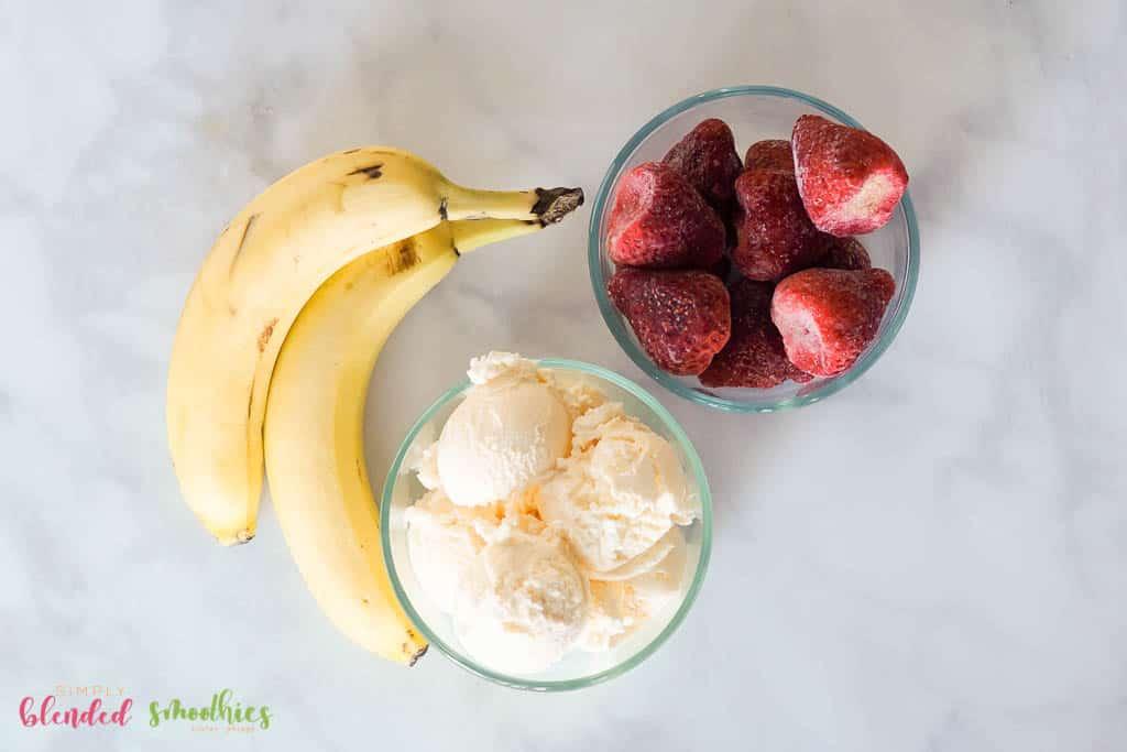 Strawberry Banana Shake Ingredients