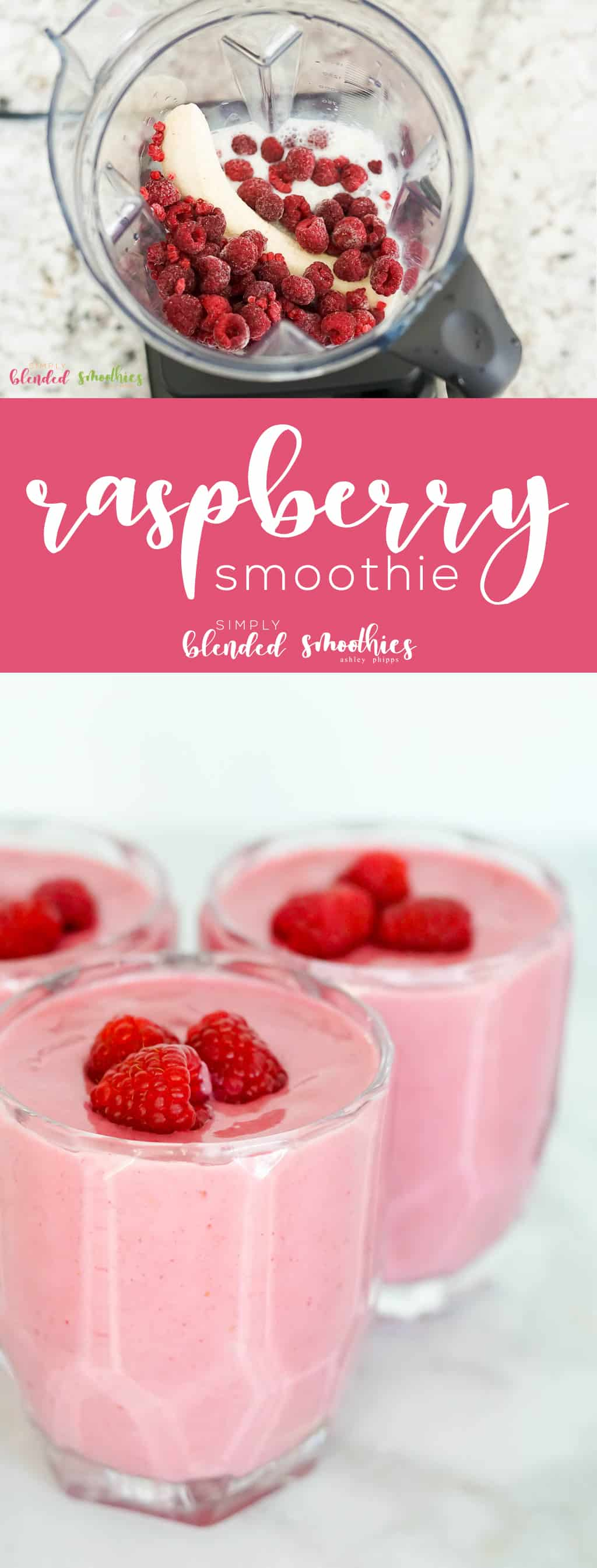 This raspberry smoothie recipe is a delicious and refreshing smoothie perfect for breakfast brunch an afternoon snack or even as a healthy dessert