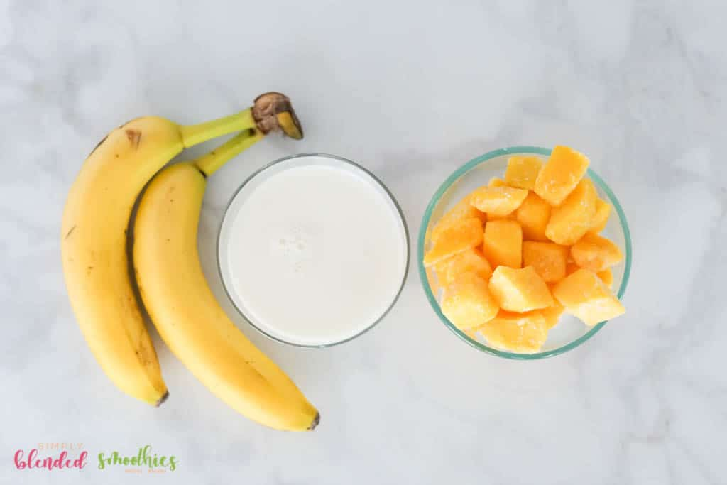 3 ingredient needed for a mango banana smoothie