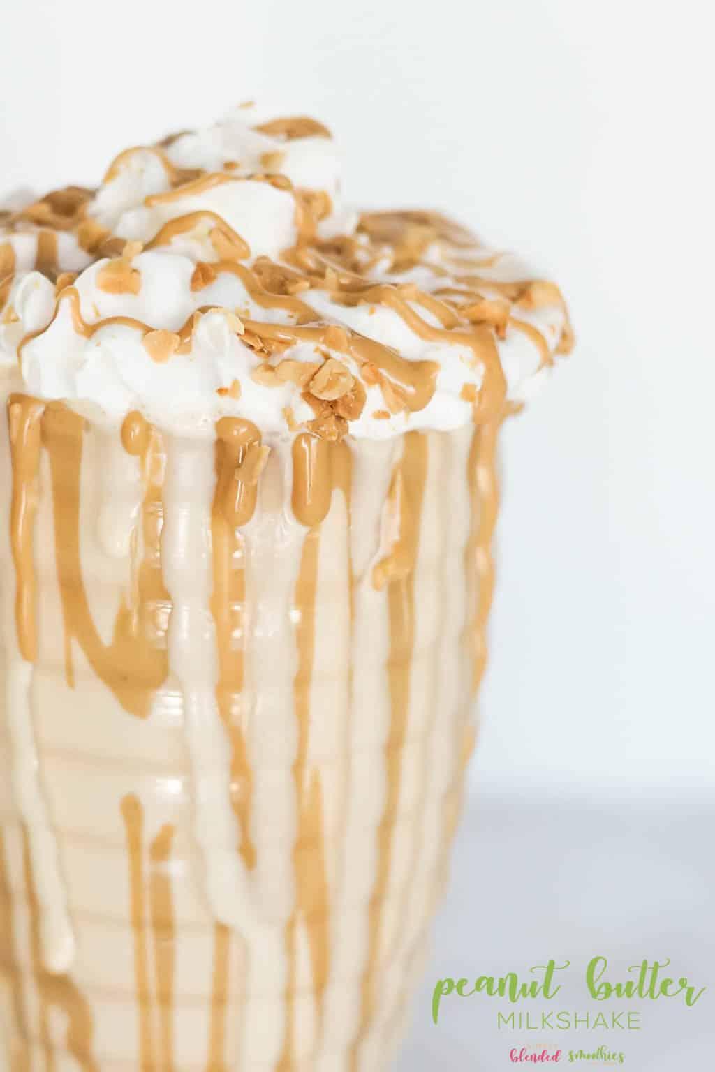 Peanut Butter Milkshake Recipe With Only 3 Ingredients