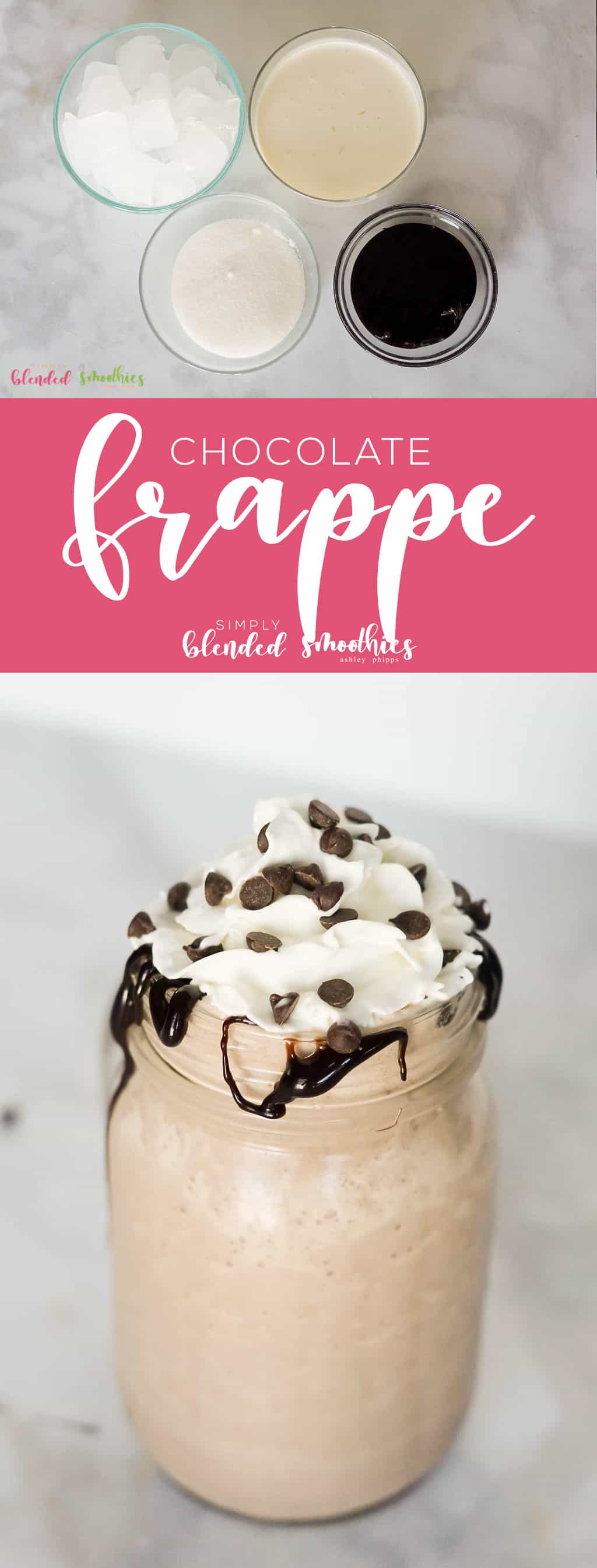 This Chocolate Frappe recipe is just as delicious as one you could buy at an expensive coffee shop but free from yuck ingredients and so much cheaper