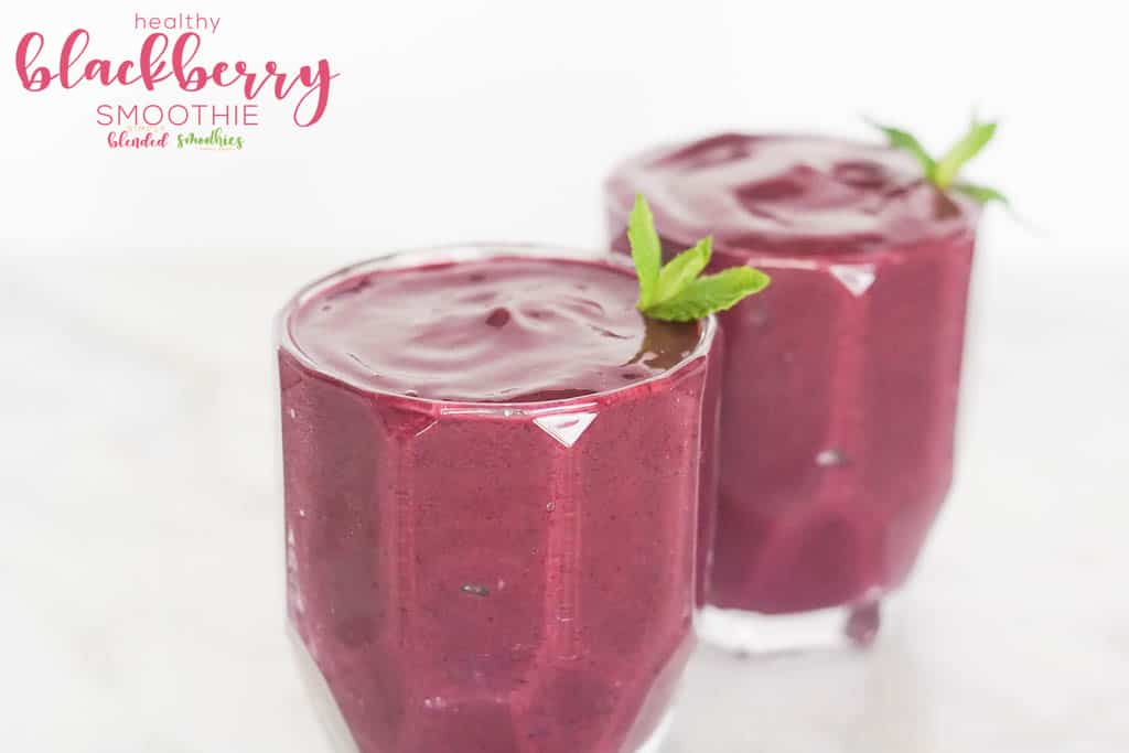 Blackberry Smoothie With Mint Sprig