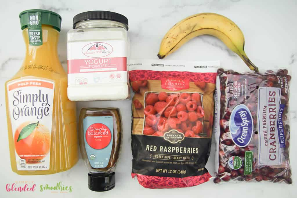 cranberry smoothie ingredients