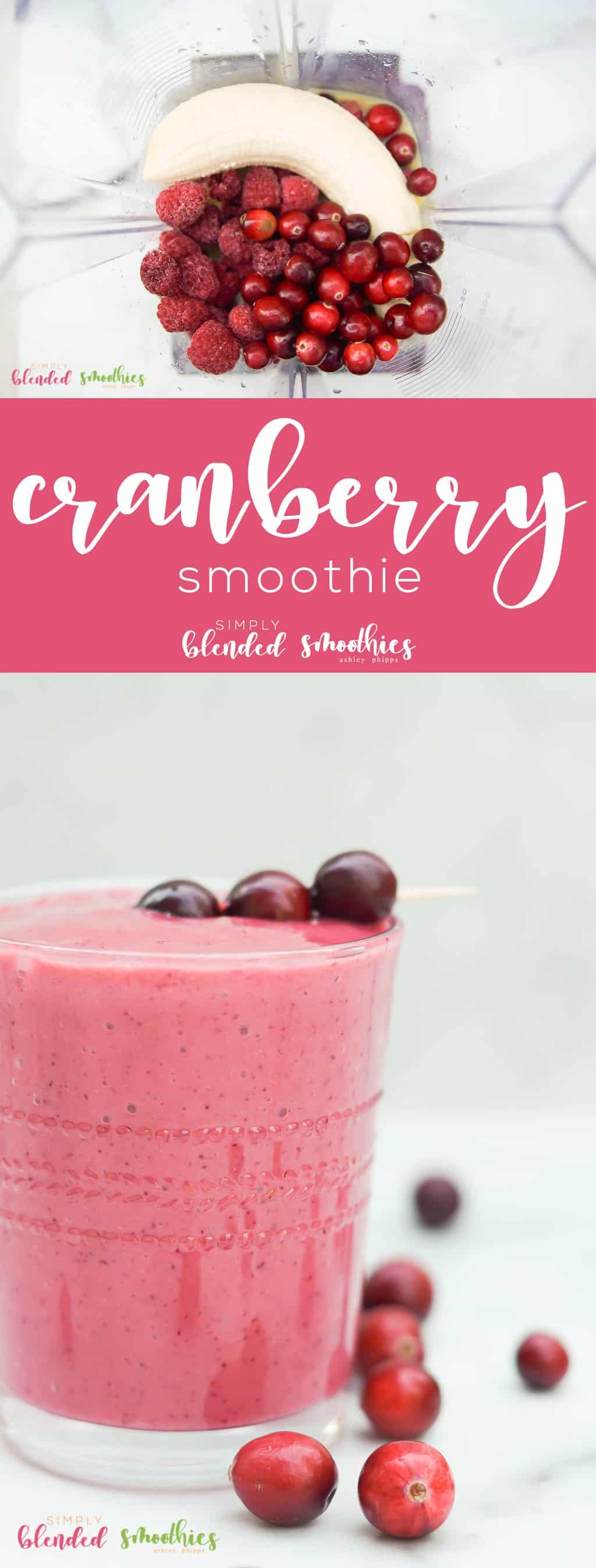 Cranberry Smoothie Recipe