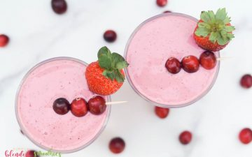 Cranberry Truffle Smoothie photo taken from the top looking down