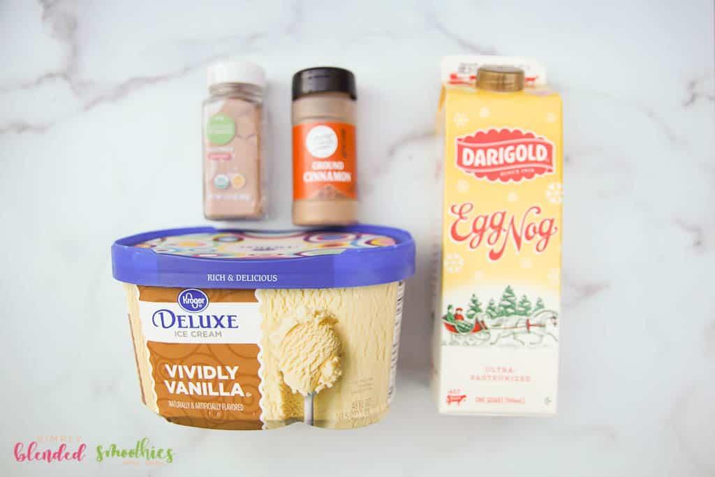 Ingredients For An Eggnog Shake