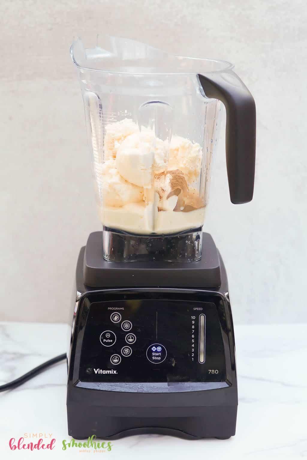 Ingredients For Egg Nog Milkshake In Blender