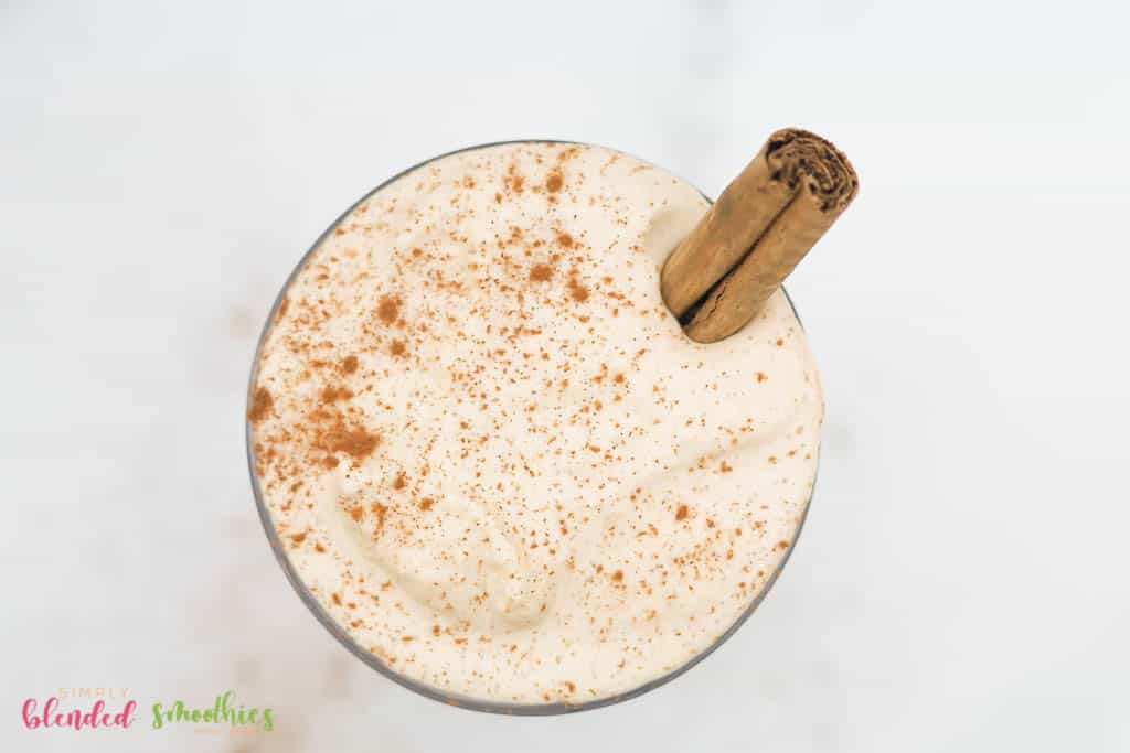 holiday eggnog milkshake recipe