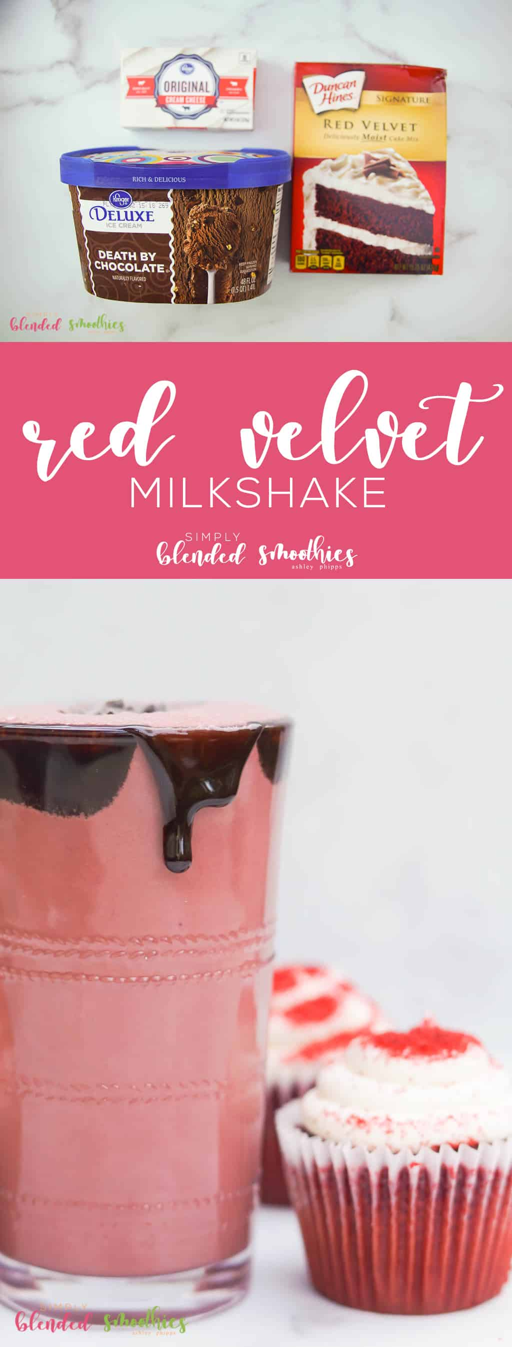 This Red Velvet Milkshake is so delicious and tastes just like a yummy red velvet cupcake you are going to want to make enough to share with everyone
