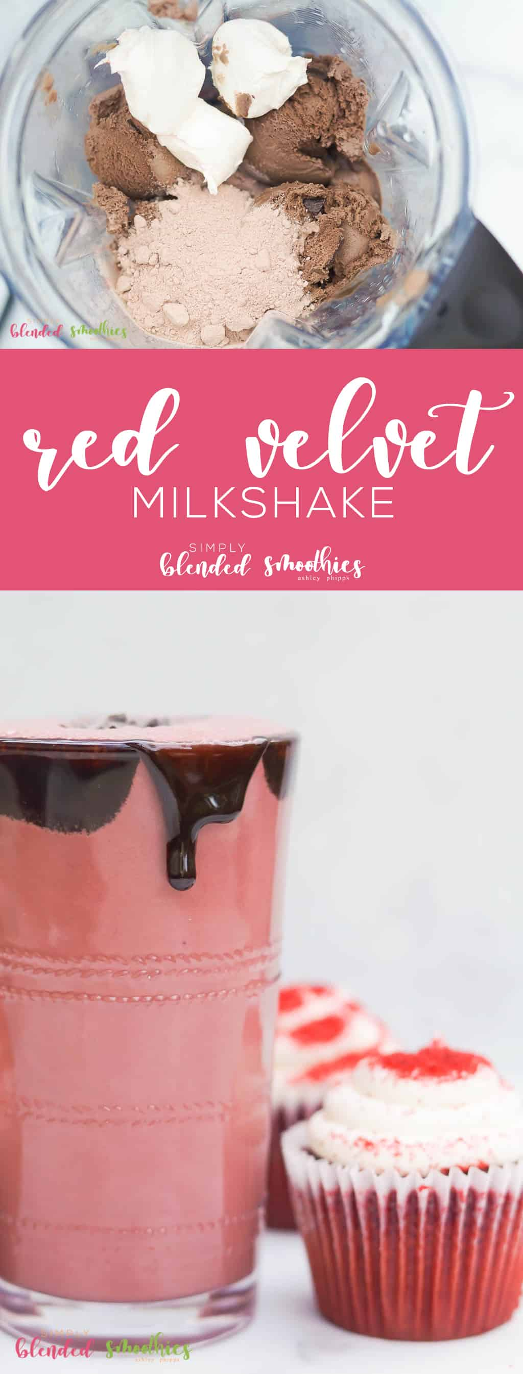 delicious red velvet milkshake