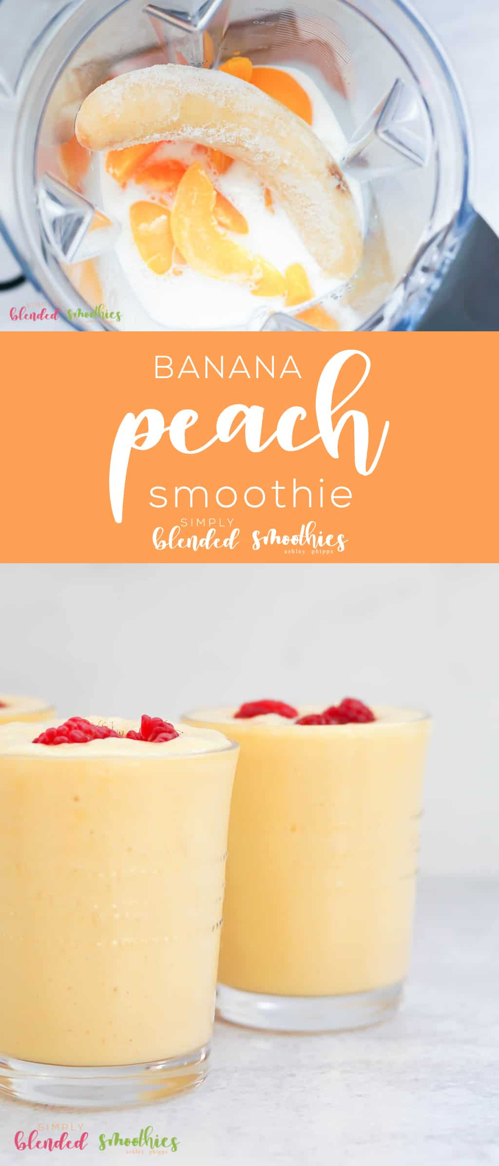 Banana Peach Smoothie made from canned fruit is still super delicious and so easy to make