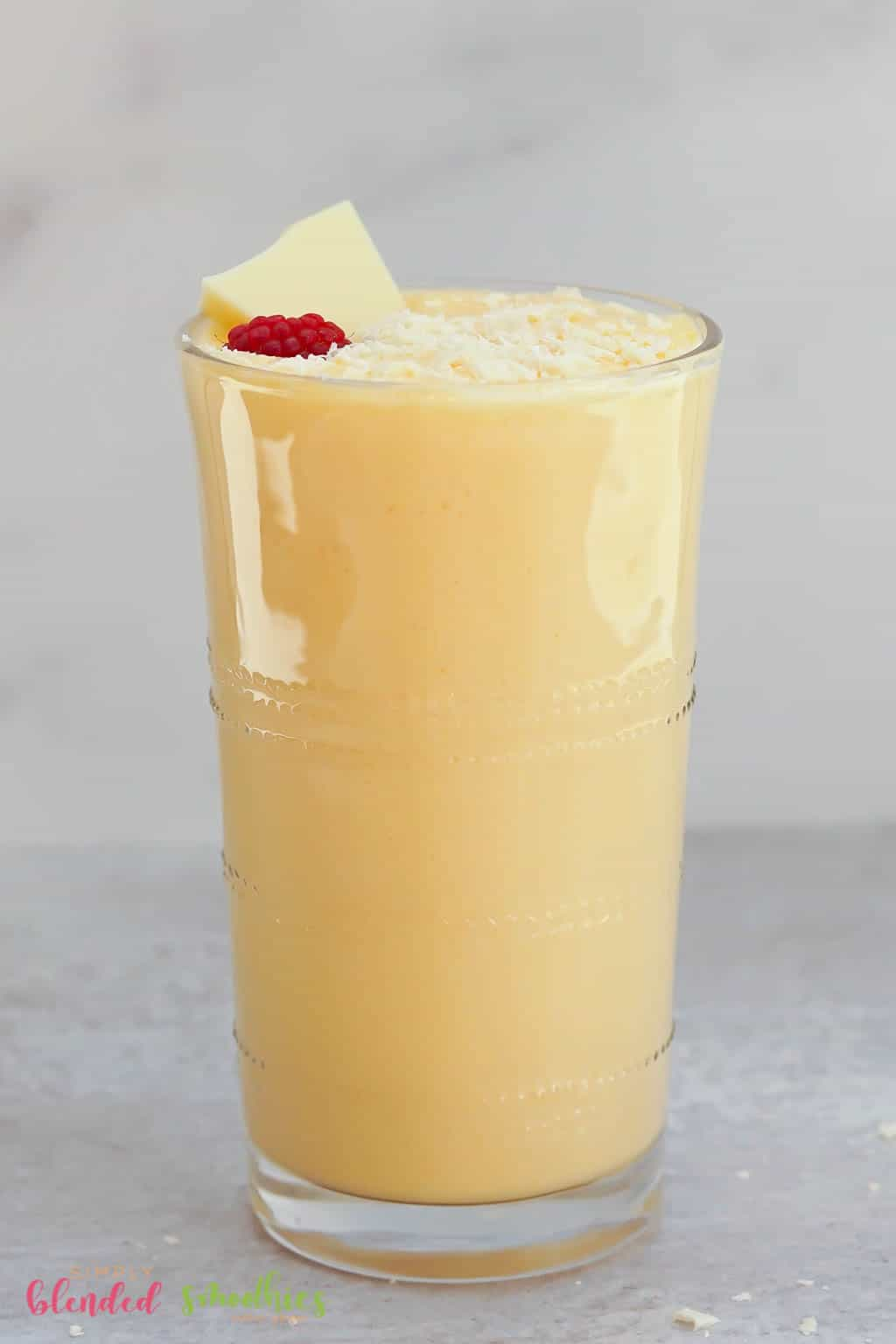Peach Milkshake with white chocolate
