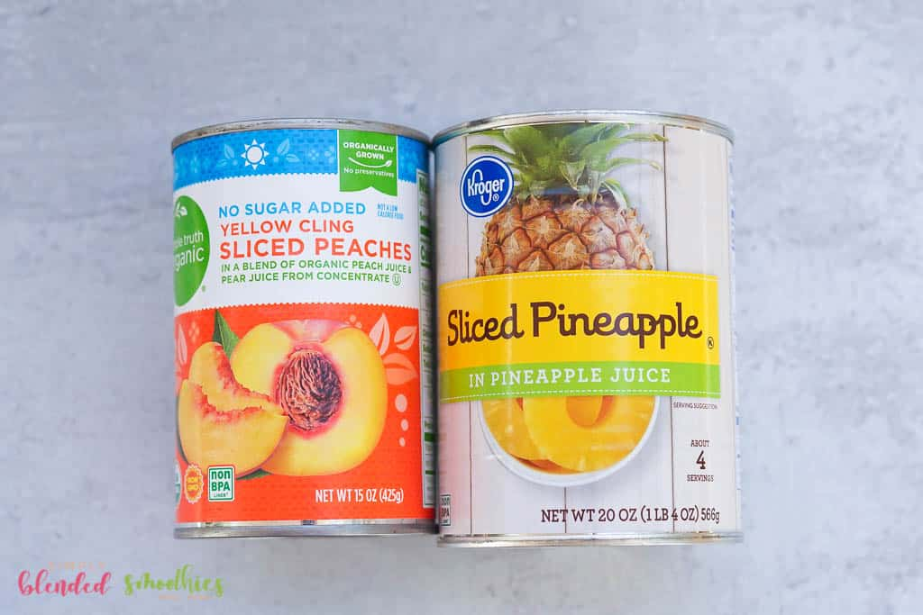 ingredients needed to make a peach pineapple smothie