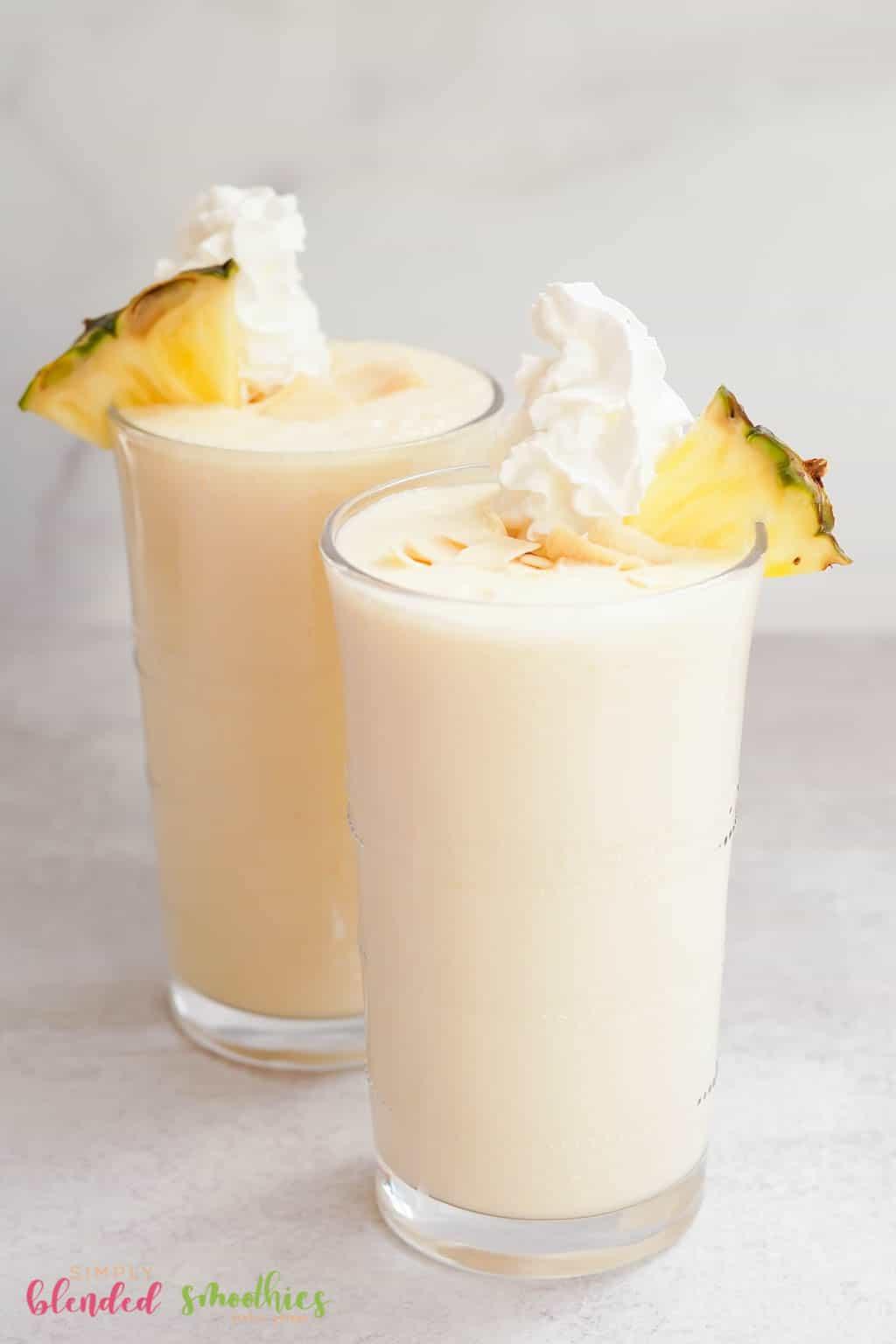 milkshake made with pineapple