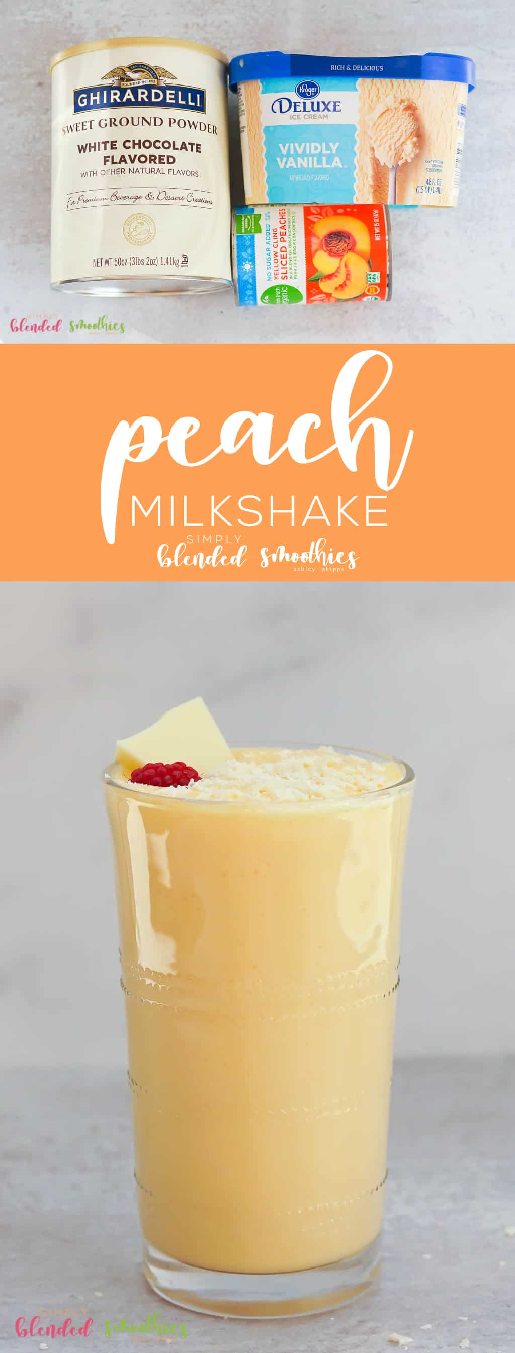 This Peach Milkshake is a deliciously sweet treat that rivals a Chick-Fil-A peach milkshake because the secret ingredient makes this irresistibly delicious