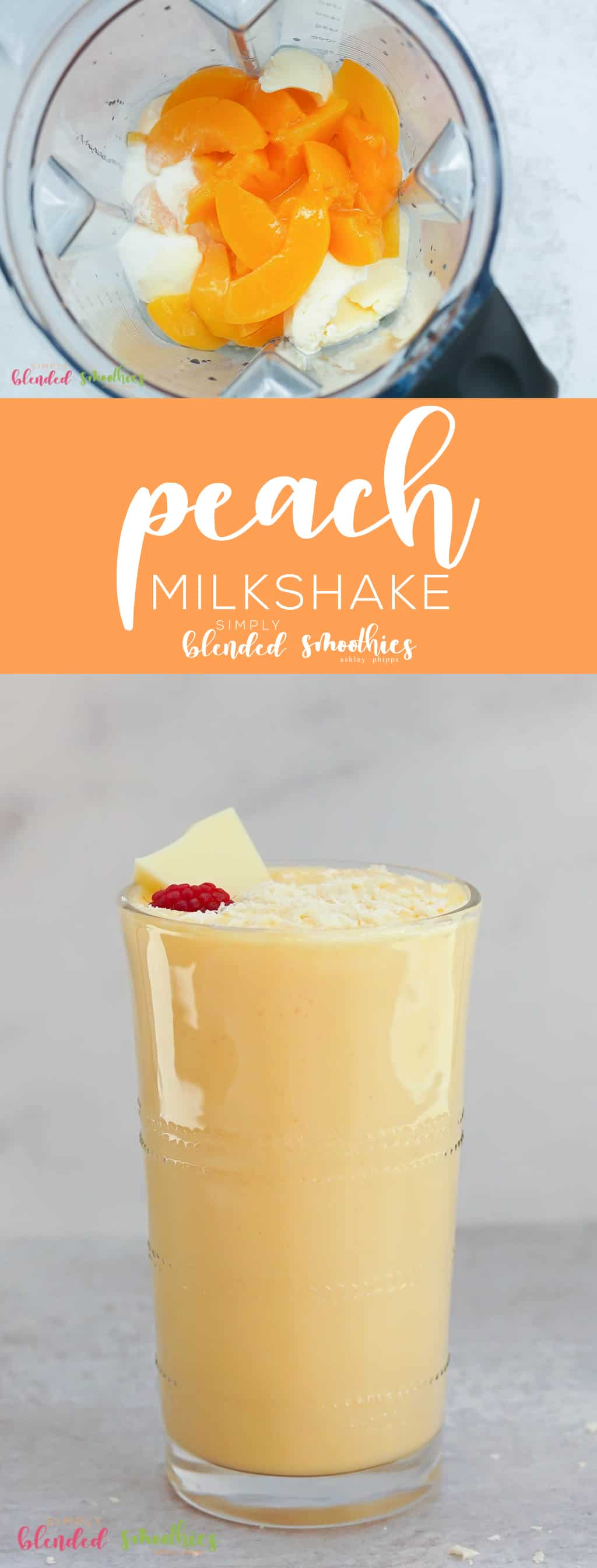 This Peach Milkshake is a deliciously sweet treat with a secret ingredient makes this irresistibly delicious
