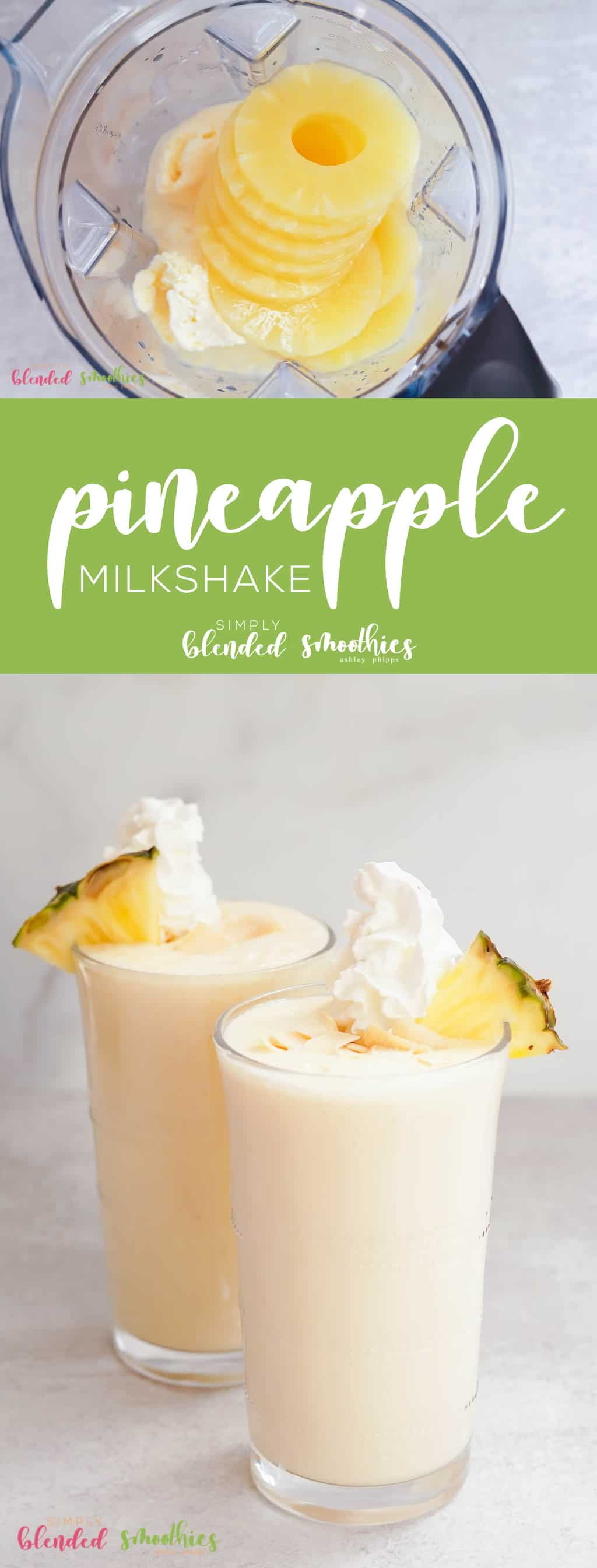 This Pineapple Milkshake is one of my familys favorite milkshake recipes because it is the perfect blend of sweet and tart thanks to a secret ingredient