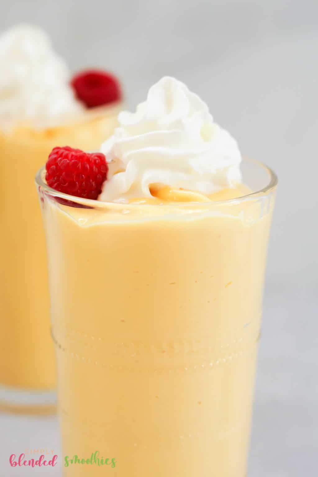 Mango Peach Milkshake recipe